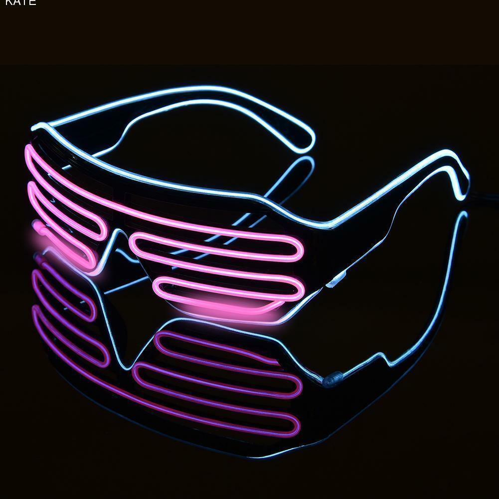 Окуляри світлодіодні El Neon spiral ice blue pink неонові
