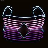 Окуляри світлодіодні El Neon spiral ice blue pink неонові, фото 7
