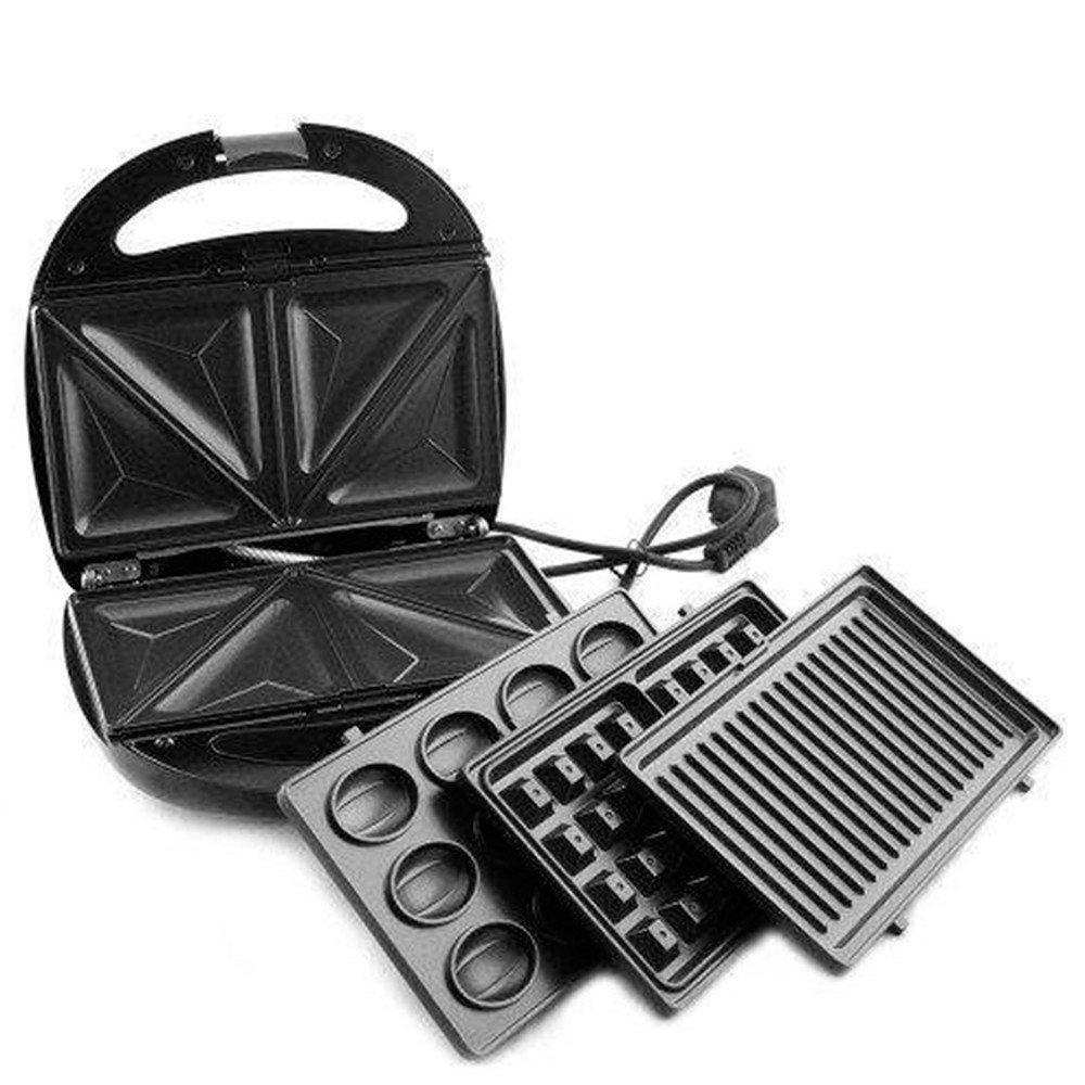Мультимейкер Rainberg 4в1 вафельниця, бутербродниця, горішниця, гриль, 2200 Вт (RB-5408)
