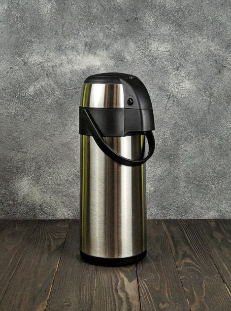 Термос вакуумный 3.5 л Stenson MT-0952 с помпой Сталь
