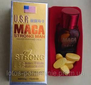 Таблетки для повышения потенции MACA Strong Man - Лотос. Здоровье, красота, похудение в Киеве