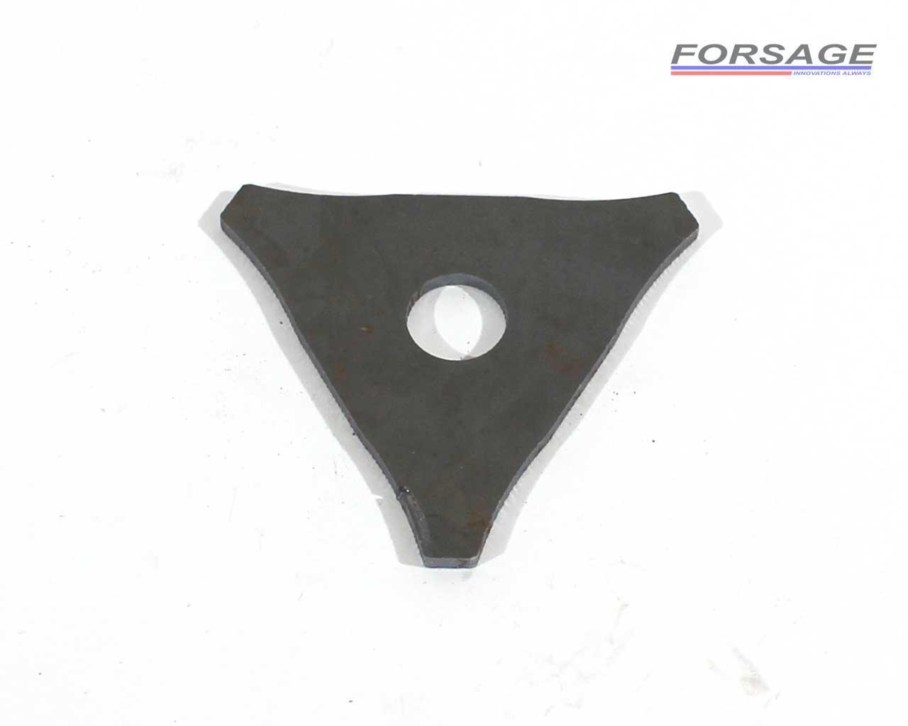 Шайба треугольная для споттера стальная