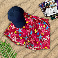 Шорты + кепка - комплект мужской. Стильные пляжные мужские шорты + кепка.