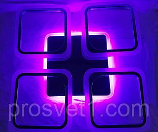 Современная светодиодная люстра с поочередным включением трех режимов и пультом. Люстра акрил 5588/4 85W CH