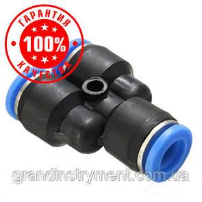 Соединение цанговое для полиуретановых шлангов PU/PR (Y-обр., шланг)  8мм AIRKRAFT SPY08