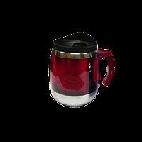 Термо чашка Бочонок металлическая красная VR 141007