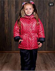 """Зимний костюм для девочки """"Бантики"""" р.86-128"""