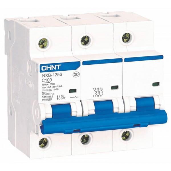 Авт. вимикач Chint NXB-125 3p 100A C 10kA 816141