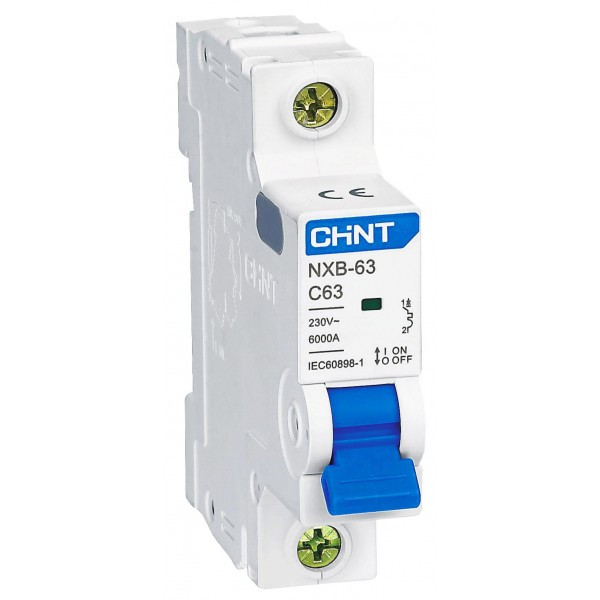 Авт. вимикач Chint NXB-63 1p 20A C 6kA 814015