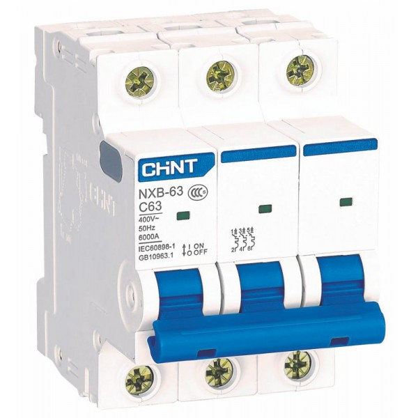 Авт. вимикач Chint NXB-63 3p 20A C 6kA 814171