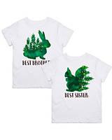 "Парні футболки з принтом ""Best brother. Best sister"" Push IT"