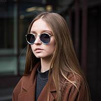 Женские очки солнцезащитные. Стильные круглые солнцезащитные очки.