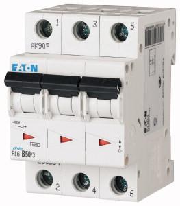 Авт. вимикач Eaton PL6 3p 50A C 6kA 286606