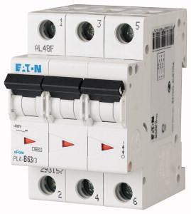 Авт. вимикач Eaton PL4 3p 63A C 4,5kA 293166