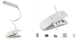 Настольная аккумуляторная LED лампа на клипсе Remax Dawn RT-E195