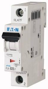 Авт. вимикач Eaton PL4 1p 20A C 4,5 kA 293125