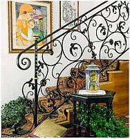 Кованые перила лестницы-19