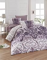 Постельное белье First Choice Ranforce Dalyan Mor ранфорс 200-220 см фиолетовый
