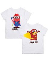 "Парні футболки з принтом ""Super Brother"" Push IT"