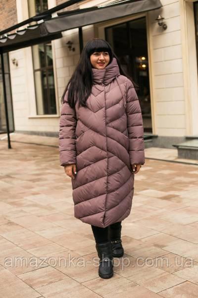 Модная женская куртка удлиненная новинка зима 2020- 2021