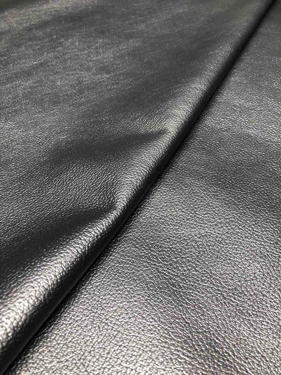 Натуральная кожа «Мебельная» черная