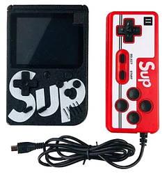 Портативная игровая консоль MHZ GAME SUP 6927, черная с красным джойстиком, 400 8-битных игр