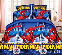 Детский комплект постельного белья Человек паук 150x215 см из ранфорса R8775