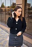 Женский кардиган вязаный черный. Стильный женский свитер черного цвета. Женская вязаная кофта свободного кроя.