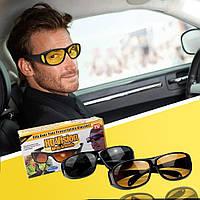 Антибликовые очки для водителей HD Vision, 2 шт (для дня и ночи), очки антифары, Водительские очки
