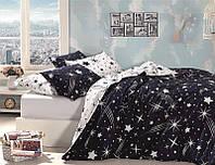 Постільна білизна First Choice Ranforce Star ранфорс 200-220 см темно синій