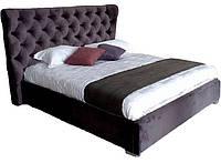 Кровать двуспальная ПурПур 180*200 с подъёмным механизмом, мягким изголовьем и нишей для белья TM Embawood, фото 1