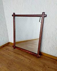 """Настінне дзеркало в рамці з натурального дерева """"Жаклін - 3"""" від виробника"""