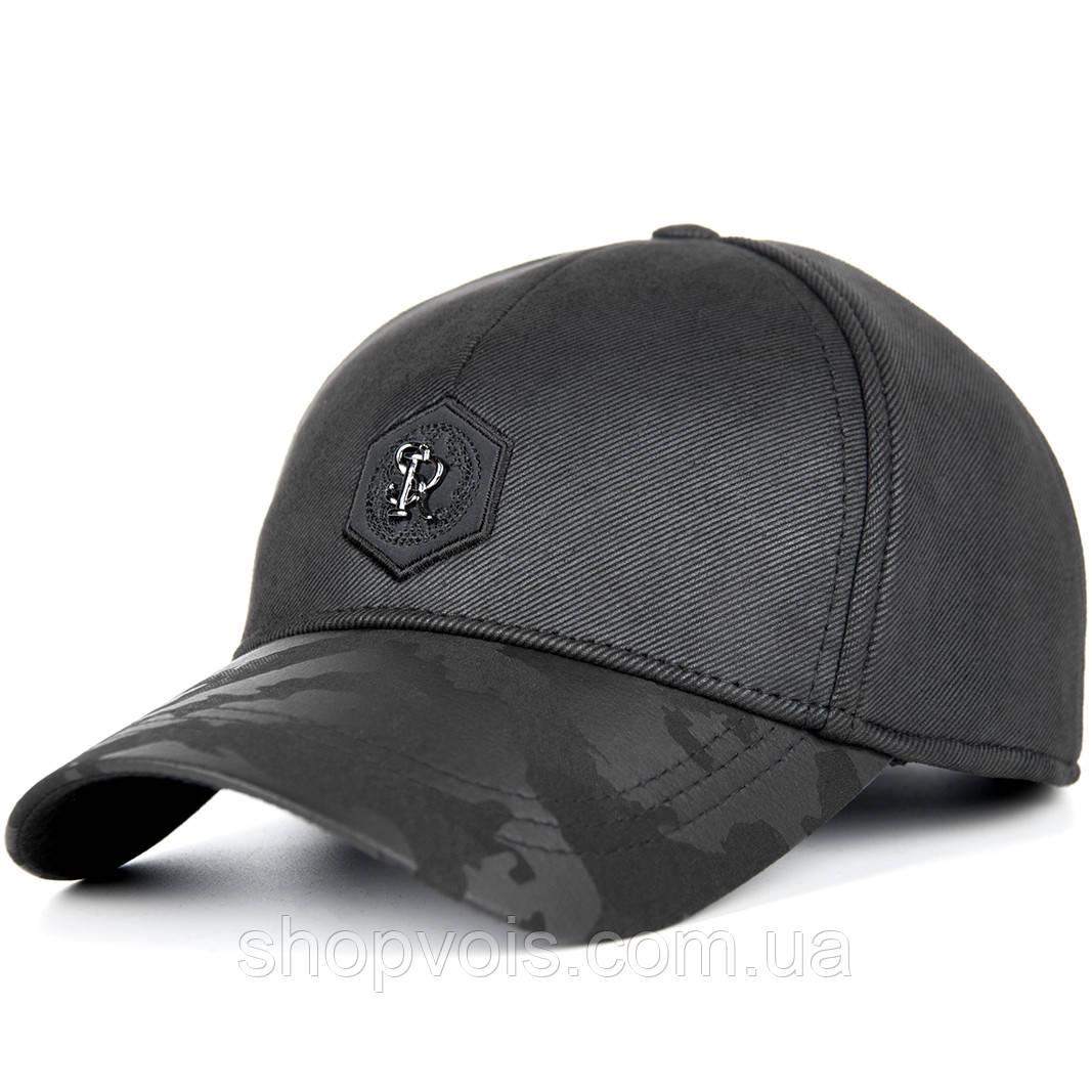 Кепка мужская зимняя MZ507 Бейсболка Черная (реплика)