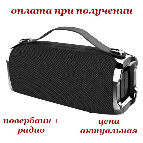 Беспроводная мобильная портативная влагозащищенная Bluetooth колонка с Power Bank радио акустика HOPESTAR H36