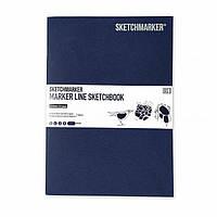 Скетчбук SketchMarker А5 16 листов, 160 г, синий, Mlssm / Imblue