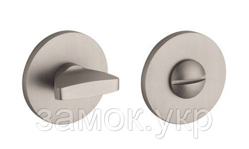 Дверная накладка фиксатор Aprile R 5S WC L 6х6 никель матовый (Португалия)