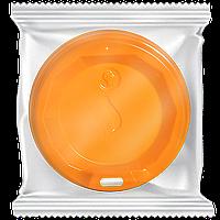 """Крышка пластиковая в инд.упаковке """"S"""" КВ69 Оранжевая 50шт/уп (1ящ/19уп/950шт) под стакан 175 мл"""
