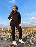 Женский теплый спортивный костюм батник с капюшоном и штаны трехнитка с начесом размер: 42-44, 46-48, фото 4