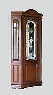 Кутова вітрина Елеонора з дверцятами з масиву дуба, фото 1
