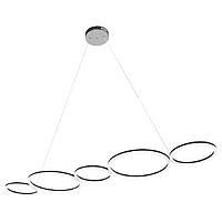 Светодиодная люстра подвесная Horoz OLYMPIC 45W LED Хром современная потолочная, фото 1