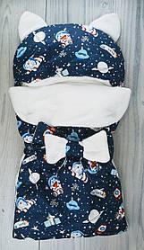Конверт для малюків Вушка Космос Синій 5604+з TwinsBaby Україна