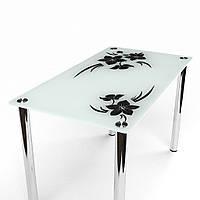 Стол обеденный из стекла модель Магнолия
