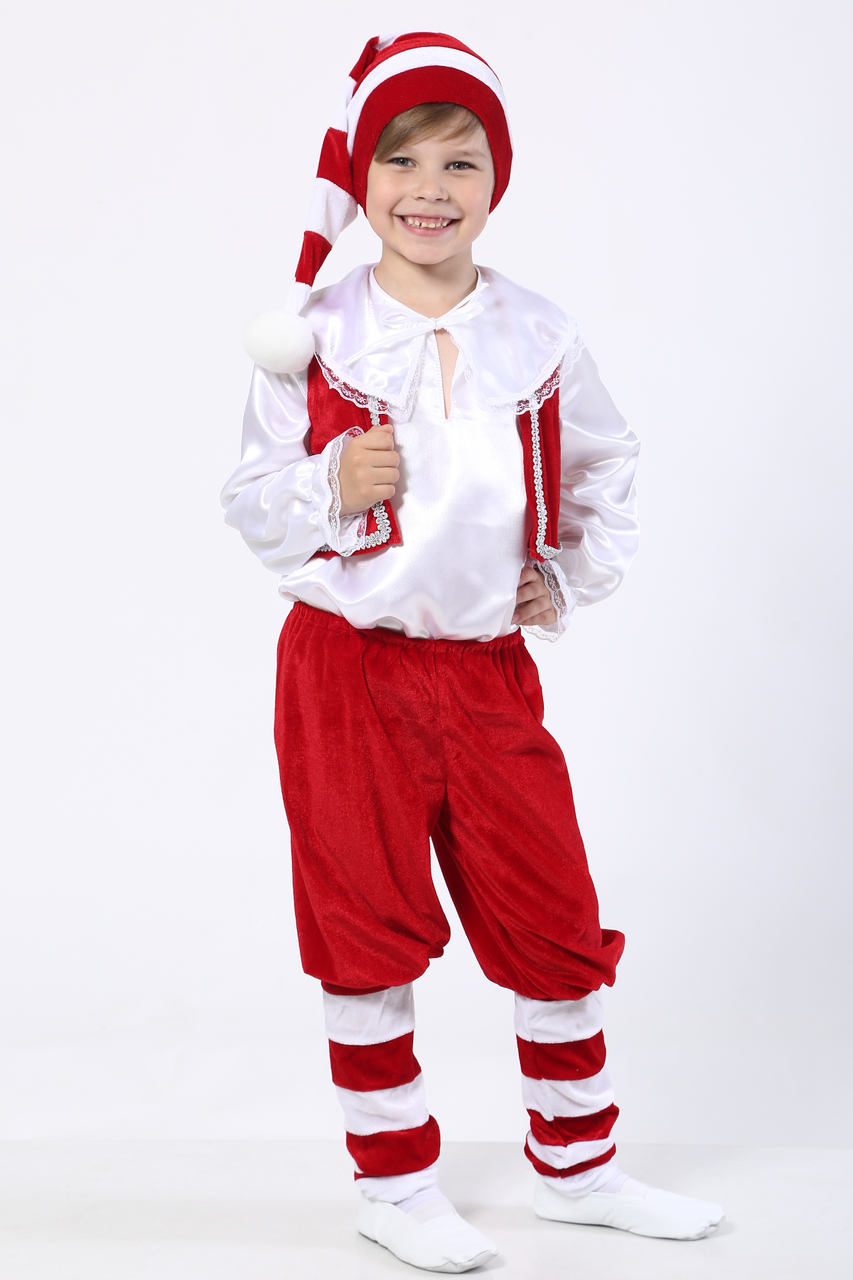Карнавальный костюм Гном №2 (красный)