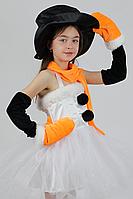Новогодний карнавальный костюм Снеговик для девочки, фото 1