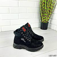 """Ботинки женские зимние черные """"Bobole"""" эко замша, Зимние ботинки. Обувь женская. Обувь зимняя"""