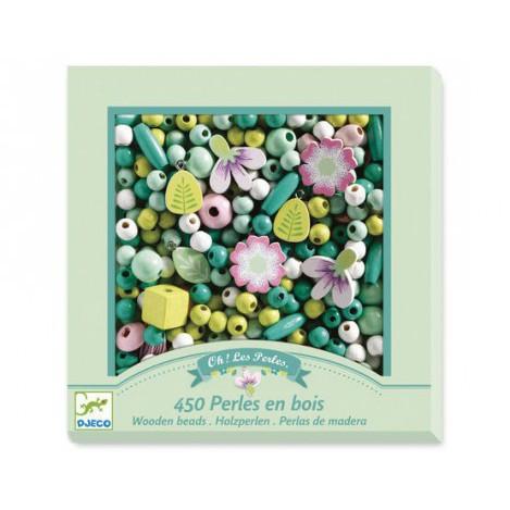 Набір для творчості з дерев'яними намистинами квіти (DJ09808)