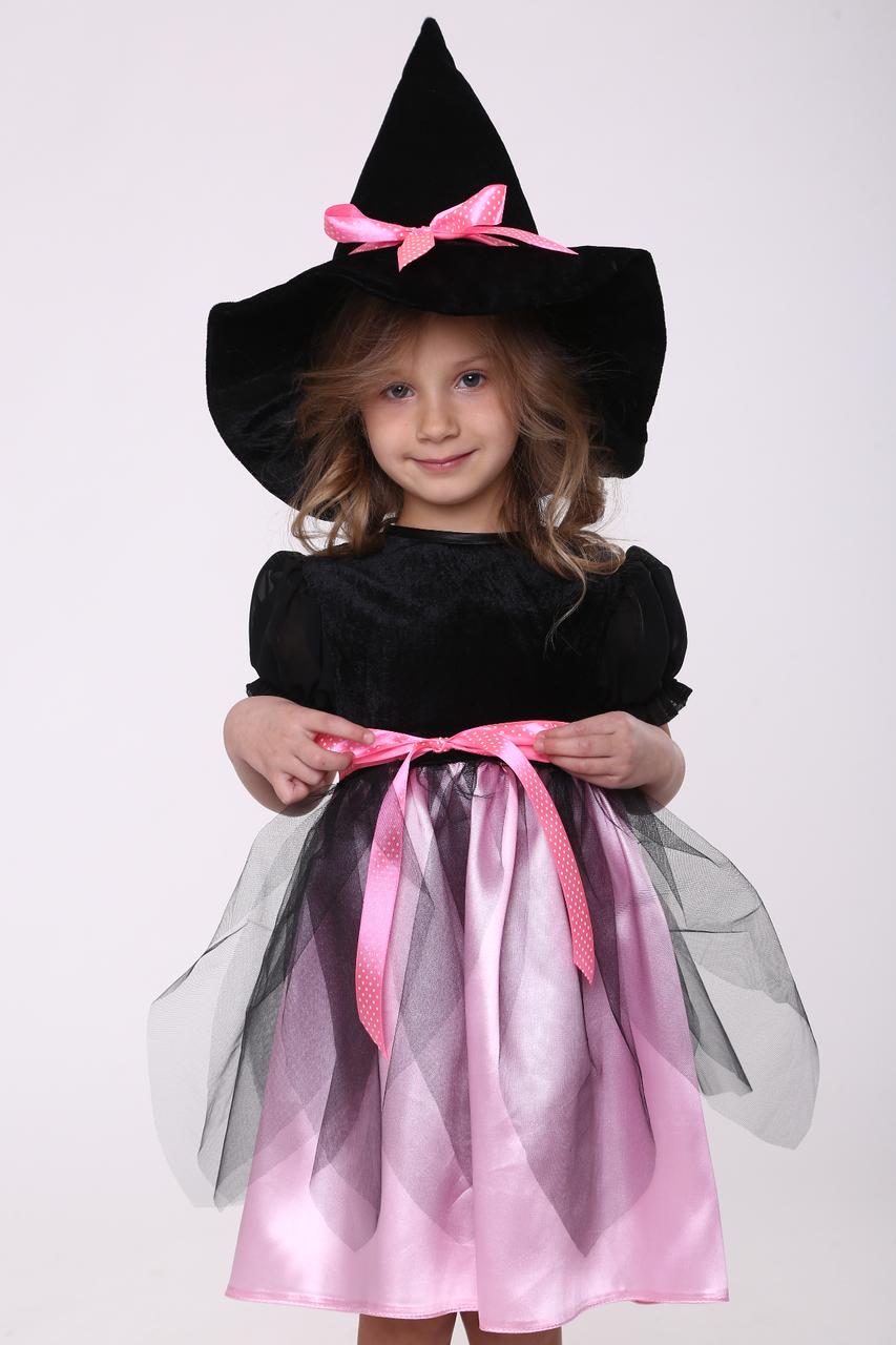 Карнавальный костюм Ведьмочка №1 (розовый)