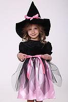 Карнавальный костюм Ведьмочка №1 (розовый), фото 1
