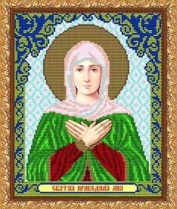 """Рисунок на ткани для вышивания бисером """"Св. Лилия"""", фото 2"""