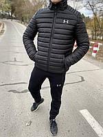 Куртка мужская зимняя Under Armour до - 20*С теплая черная | пуховик мужской зимний Андер Армор ЛЮКС качества